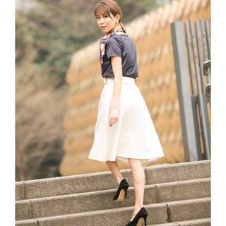 デュラスアンビエント(DURAS ambient)のアンビエント 美品 フレアスカート 購入したて ベルト付 (ひざ丈スカート)