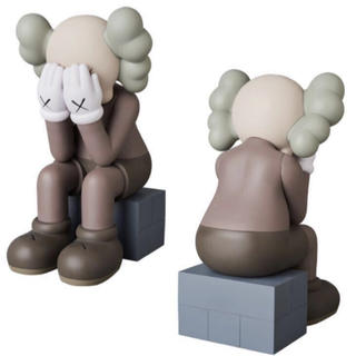 MEDICOM TOY - 国内正規品 KAWS PASSING THROUGH BROWN カウズ 送料込