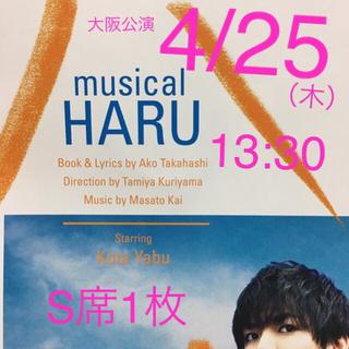 ヘイセイジャンプ(Hey! Say! JUMP)の【送料無料】ミュージカル ハル S席チケット1枚(ミュージカル)
