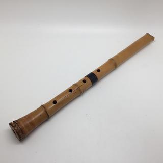 和楽器  尺八 竹管 継管 星光銘  D管#5014(尺八)