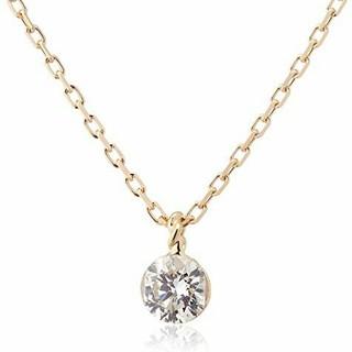 アガット(agete)のagete k18 ダイヤモンドネックレス 0.15ct(ネックレス)