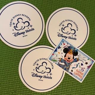 ディズニー(Disney)のディズニー チケット 使用済 小人 コースター付き(遊園地/テーマパーク)
