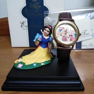 ディズニー(Disney)の[限定品]ディズニー75周年 白雪姫 腕時計 フィギュア シリアルナンバー付き(SF/ファンタジー/ホラー)