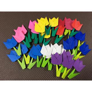 壁面飾り保育園春折り紙まとめて30枚(型紙/パターン)