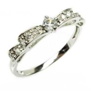 リボン プラチナ ダイヤ 指輪(リング(指輪))