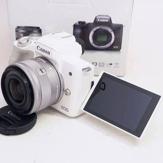 Canon - 【新品未使用】スマホ転送機能付♪キヤノン EOS Kiss M
