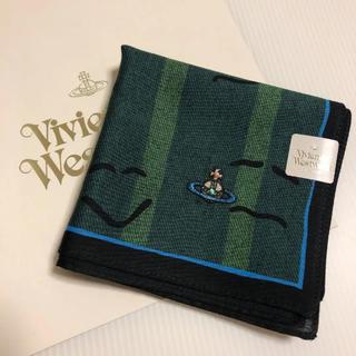 ヴィヴィアンウエストウッド(Vivienne Westwood)の新品⭐️ ヴィヴィアン ウエストウッド 顔文字柄 ハンカチ オーブ刺繍(ハンカチ/ポケットチーフ)