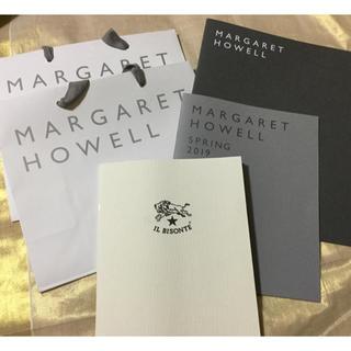 マーガレットハウエル(MARGARET HOWELL)のマーガレットハウエル IL BISONTEカタログ ショップバックセット(ショップ袋)