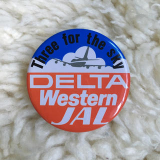 JAL DELTA Western 缶バッジ(航空機)