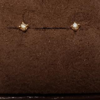 アガット(agete)のアガット 現行品 K18 0.06ct 深津絵里バージョン ピアス¥31320(ピアス)
