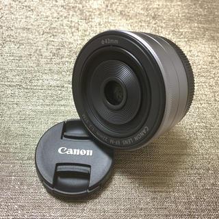 Canon - 美品❗️絶妙なボケ味✨キャノン EF-M 22 シルバー