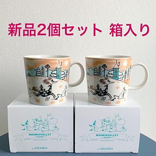 アラビア(ARABIA)の新品 2個セット アラビア ムーミンマグカップ ムーミンバレーパーク(食器)