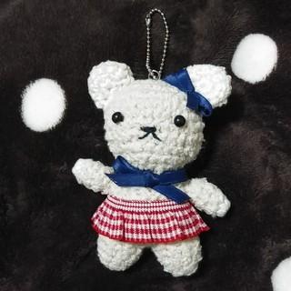 ★ウサギの編みぐるみ キーホルダー★(あみぐるみ)