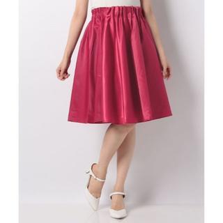 ナチュラルクチュール(natural couture)の【新品タグ付き】natural couture  フレアスカート 赤(ひざ丈スカート)