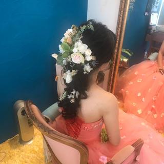 プリザーブドフラワー 髪飾り(ヘッドドレス/ドレス)