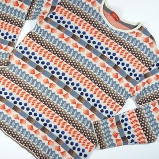 ケンゾー(KENZO)の美品ケンゾーニットセーター派手幾何学模様(ニット/セーター)