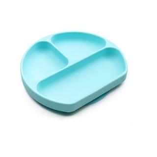 bumkins(バンキンス) 吸盤付きシリコンディッシュ 6ヵ月 ブルー (プレート/茶碗)