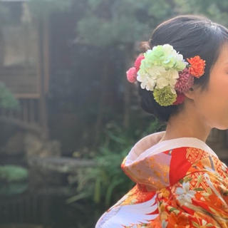 和装 花飾り(ヘッドドレス/ドレス)