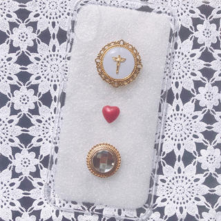 *[一点物]ヴィンテージボタン♡iPhoneケース*(スマホケース)