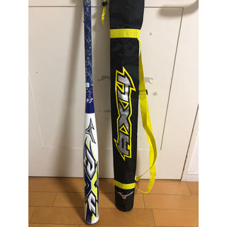 ミズノ(MIZUNO)の【美品】AX4  紫シリーズ ソフトボール 3号 650グラム(バット)