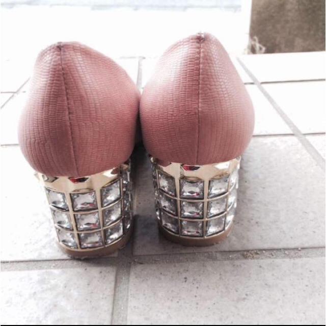 Discoat(ディスコート)のビジューパンプス ミュール ヒール レディースの靴/シューズ(ハイヒール/パンプス)の商品写真