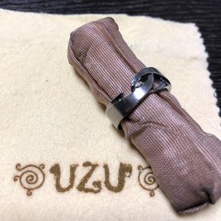 UZU ブラックロジウムコーティングシルバーリング(リング(指輪))