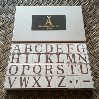 * ALPHBET STAMP *   Ai lnc.stamp studio(印鑑/スタンプ/朱肉)