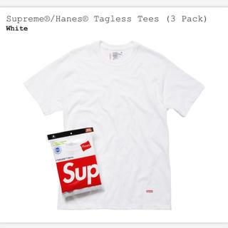 シュプリーム(Supreme)の新品 Supreme Hanes Tagless Tees 3pack(Tシャツ/カットソー(半袖/袖なし))