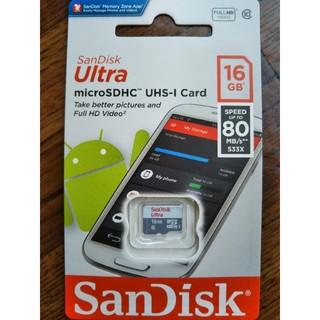 サンディスク(SanDisk)のサンディスクマイクロSD 16GB∼送料無料(その他)