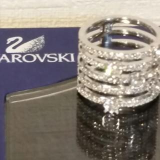 フォリフォリ(Folli Follie)のスワロフスキー 銀色リング 指輪(リング)
