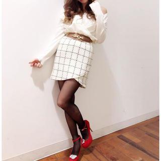 デイライルノアール(Delyle NOIR)のデイライルノアール ツイード カシュクール スカート(ミニスカート)