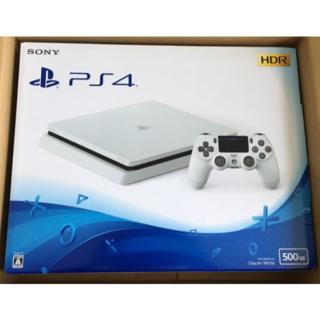 ソニー(SONY)のPlayStation4 グレイシャー・ホワイト 500GB(家庭用ゲーム本体)
