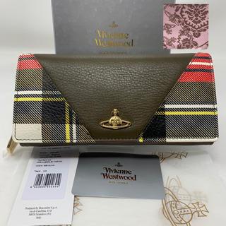 ヴィヴィアンウエストウッド(Vivienne Westwood)の未使用☺︎Vivienne Westwood  長財布 タータンチェック オーブ(財布)
