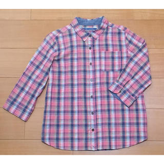 ジエンポリアム(THE EMPORIUM)のジ・エンポリアム ギンガムチェックシャツ ピンク系 Mサイズ(シャツ/ブラウス(長袖/七分))