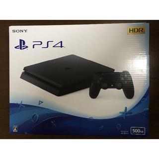 ソニー(SONY)の美品 送料込み PS4 本体 500GB ブラック(家庭用ゲーム本体)