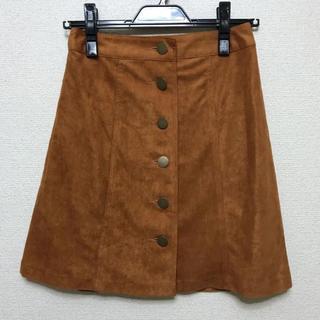 アラマンダ(allamanda)の新品タグ付き allamanda スエード台形スカート(ひざ丈スカート)