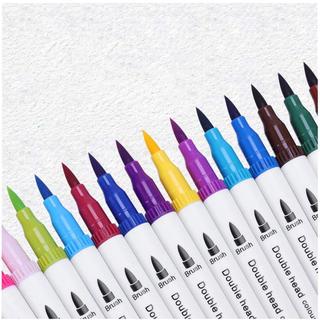 カラーペン サインペン 20色 筆 ペン カラー 水彩 マーカーペン アート(カラーペン/コピック)