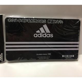 アディダス(adidas)のアディダス adidas 色鉛筆  12色セット 三菱鉛筆 丸軸 ケース:黒  (色鉛筆)