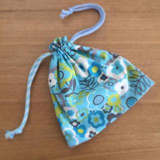 ハンドメイド  巾着袋 北欧flower(ランチボックス巾着)