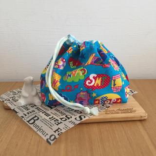 ハンドメイド  お弁当袋  POP☆(ランチボックス巾着)