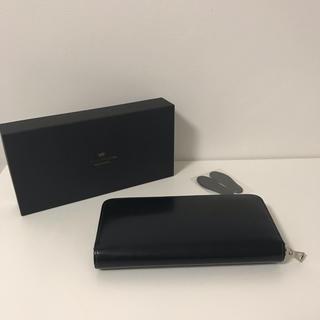 ガンゾ(GANZO)の極美品 2019年1月購入 ワイルドスワンズ kf-001  黒 (長財布)