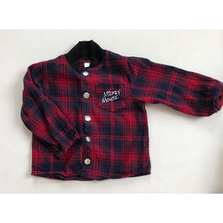 ディズニー(Disney)のディズニー ミッキー チェックシャツ size90(ジャケット/上着)