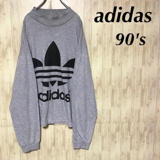 アディダス(adidas)の美品 90's adidas ロングスリーブTシャツ ビッグトレフォイルロゴ(Tシャツ/カットソー(七分/長袖))