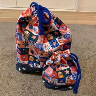 ディズニー(Disney)のハンドメイド カーズ巾着袋セット☆(外出用品)