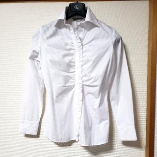しまむら - 新品 未使用❤️ ストライプシャツ ブラウス スーツ用シャツ 11号 セオリア