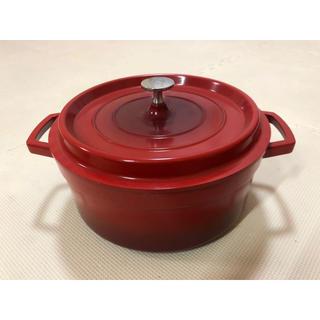 鋳物風 アルミ無水鍋22cm(鍋/フライパン)