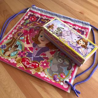 ディズニー(Disney)のディズニー 小さなプリンセス ソフィア ナップサック 箱小物入れペンケース(リュックサック)