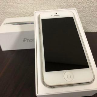 iPhone - 【即納】 iPhone 5 White 32 GB au ケース付き