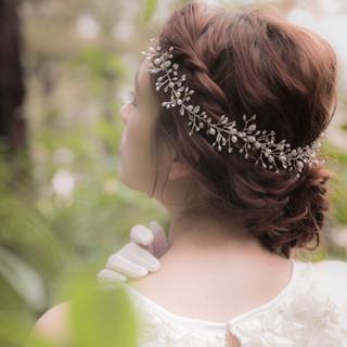 ヘッドアクセサリー 小枝 パール 100cm(ヘッドドレス/ドレス)