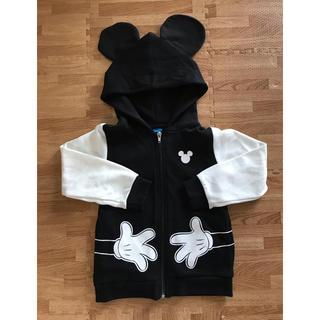 ディズニー(Disney)のミッキー モノクロパーカー(ジャケット/上着)